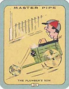 Carreras Vintage Cigarette Card N0 34 Master Pipe The Plumbers Son