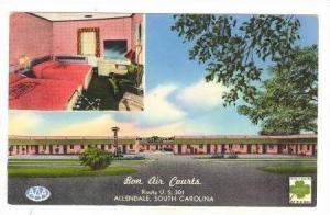 Bon Air Courts, Route U.S. 301, Allendale, South Carolina, 40-60s