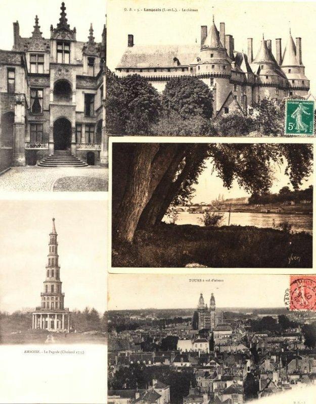 INDRE-ET LOIRE (DEP.37) CENTRE 244 Cartes Postales 1900-1940