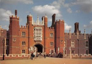 Hampton Court Palace Middlesex The Great Gatehouse and Moat Bridge