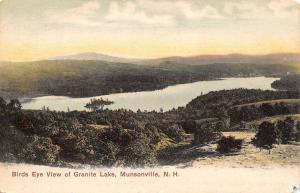 Munsonville New Hampshire~Birdseye Granite Lake~Island~1905 Postcard