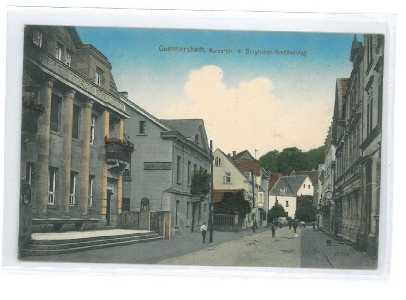 B82428 germany North Rhine Gummersbach Kaiserstrasse perfect front/back image