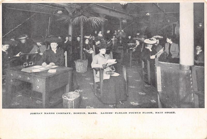 Boston Massachusetts~Jordan Marsh Department Store~4th Floor Ladies Parlor~1905