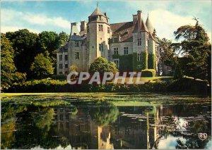 Postcard Modern Manors Norman Cotentin Chateau de Tourlaville (Renaissance)