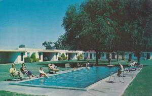 Swimming Pool, Elm's Motel, Highway 60, 70, and 80, MESA, Arizona, 40-60´s