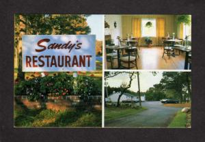 MA Sandy's Restaurant Sandwich MASSACHUSETTS MASS Postcard Carte Postale