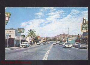WICKENBURG ARIZONA DOWNTOWN STREET SCENE 1950's CARS VINTAGE POSTCARD