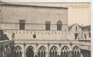 Postal B/N 0189 : Monastir de Poblet: Frentis del Palau Real