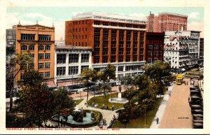 Michigan Detroit Griswold Street Showing Capitol Square Park