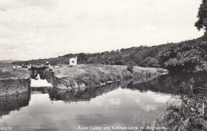 RP: BRIGHOUSE , Yorkshire, 1940-50s ; River Calder & Kirklees Lock