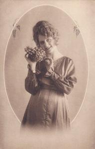 Woman with grapes portrait , 00-10s, 6/6