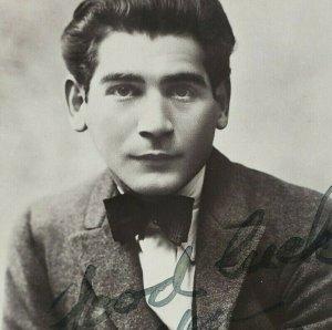 Autographed Autograph Signed Harry Pilcer Silent Film Theatre Actor Postcard 105