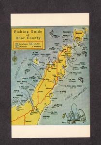 WI Fishing Guide Fish Door County Wisconsin Postcard Egg Harbor, Ephraim