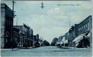 TRACY, Minnesota  MN    THIRD STREET Scene  ca 1910s  Postcard