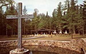 NH - Jefferson. Santa's Village. Pond and Nativity Scene