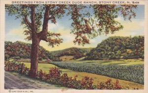 Greetings From Stony Creek Dude Ranch Stony Creek New York 1946