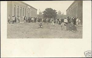 mexico, Street Scene, Gathering Crowd (1910s) RPPC