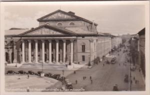 Germany Muenchen Nationaltheater mit Maximilianstrasse und Maximilianeum Real...