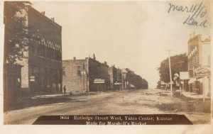 LP23 Yates Center  Kansas RPPC  Postcard Rutledge Street West