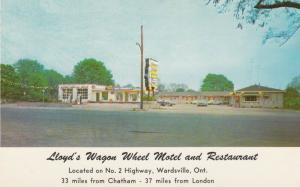 WARDSVILLE , Ontario , Canada , 50-60s ; Lloyd's Wagon Wheel Motel & Restaurant