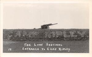 B21/ Camp Ripley Minnesota Mn Real Photo RPPC Postcard c1930s Lone Sentinal Gun3
