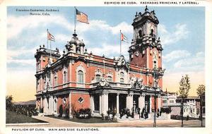 Havana Cuba, Republica de Cuba Pavilion of Cuba, Main and Side Elevations Hav...