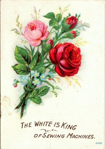 Victorian Trade Card - The White is King, White Sewing  Machine Co., Cleveland