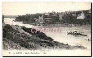 Old Postcard The Port Saint Hubert Rance Boat