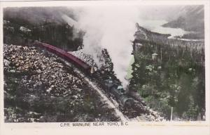 Canada Canadian Pacific Railroad Mainline Near Yoho British Columbia Photo