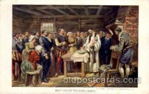 Baptism of Virginia Dare, Jamestown Exposition 1907 Postcard Post Card  Baptism