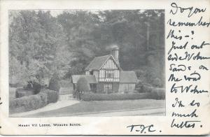Henry VII Lodge, Woburn Sands, England, Very Early Postcard, Used in 1903