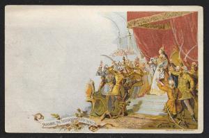 HUNGARY Maria Theresa before the people Unused c1896