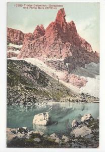 Italy Alps Tirol Dolomiten Sorapissee Punta Nera Postcard