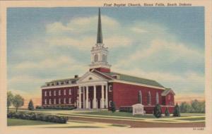Church First Baptist Church Sioux Falls South Dakota 1953 Curteich