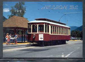 Nelson, BC Tram 23 colour Postcard unused