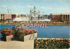 Postcard Modern Brussels Belgium gantry Brussels World Exhibition 1958