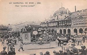 Le Carnaval De Nice 1921 Char Arretez Cocher Unused