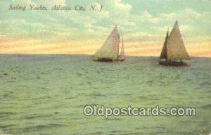 Yachts, Atlantic City, New Jersey, NJ USA Sailboat 1913 a lot of wear right b...