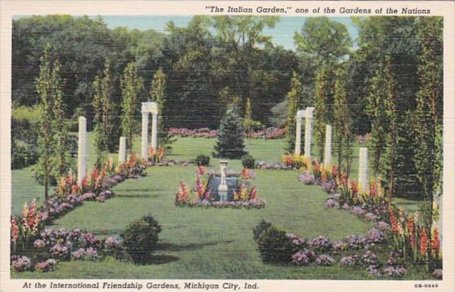 Indiana Michigan City Italian Garden At International Friendship ...