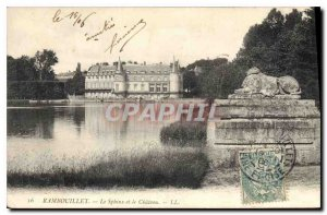 Old Postcard The Sphinx and Rambouillet Chateau