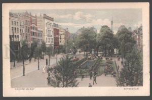098668 HOLLAND Rotterdam Groote Markt Vintage PC