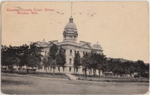 c1910 MINDEN Nebraska Nebr Postcard KEARNEY COUNTY COURT HOUSE