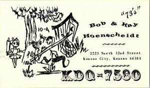 QSL Radio Card From Kansas City Kansas KDQ-7580