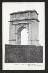 National Arch Valley Forge PA unused c1910