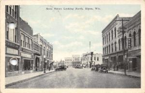 Ripon Wisconsin~Main Street~E.G. Prellwitz Men's Clothing~Hatter~Drug Store~1943