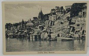 Sindhia Ghat Benares Vintage Postcard