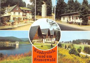 Frauenwald Monument am Bohrstuhl Talsperre Schoenbrunn Gaststatte Terrace
