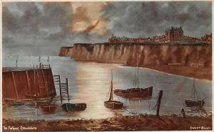 Broadstairs The Harbour Boats Moonlight, Thanet Isle, Edwart Baker 1925