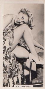 Ina Brown Hollywood Actress Rare Real Photo Cigarette Card