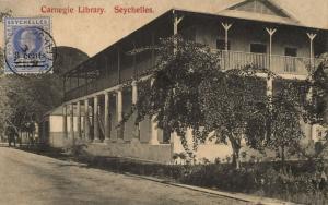 seychelles, VICTORIA, Carnegie Library (1911) Postcard